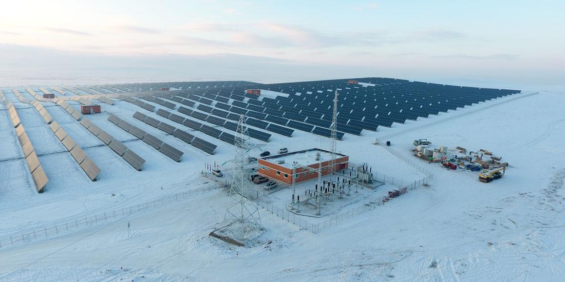 モンゴル:ダルハン市における10MW太陽光発電事業